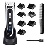 YOHOOLYO Hair Clippers For Men Haircut Trimmer LED Display Ceramic Blade Rechargeable