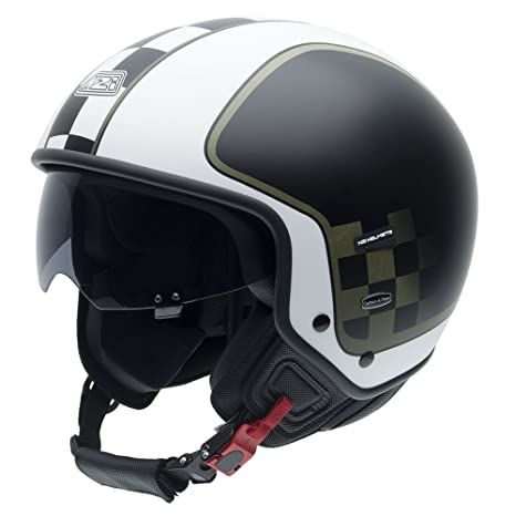 NZI 010260G625 Center, Casque de Moto, Blanc/Noir/Or, Taille : 60-61