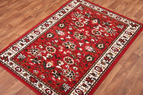 Floral Red, Brown, Green and Cream Traditional Rug 280cm x 365cm (9ft 2
