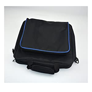 PlayStation Carrying Case, Sturdy Durable Portable Nylon Taffeta Travel Shoulder Bag Videogame Console Bag for PS4, PS4 Slim and PS4 Pro #81050 (Black) (Color: Black-Large)