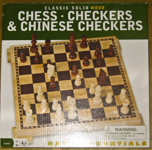 Cardinal Classic Solid Wood Chess Checkers Chinese Checkers Game Family Fun - 1