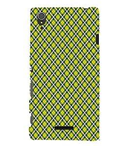 EPICCASE yellow diamonds Mobile Back Case Cover For Sony Xperia T3 (Designer Case)