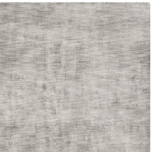 Safavieh Mirage Collection MIR951S Hand-knotted Silver and Grey Viscose Area Rug, 6 feet by 9 feet (6' x 9')