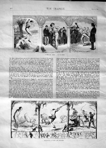 1870 Athletic Sports Oxford Water Jump Doom Acrisus