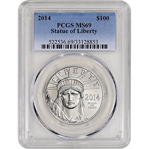 2014 American Platinum Eagle (1 oz) $100 MS69 PCGS (2014 Platinum Eagle Coin compare prices)