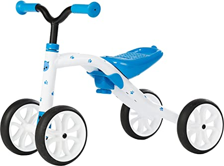 Chillafish Quadie Enfant Draisienne v'lo Scooter trottinette Bicycle de balance Bleu Blanc