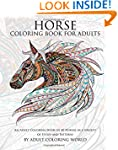 Horse Coloring Book For Adults: An Ad...