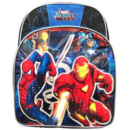 Marvel Heroes Blue And Black Backpack - 1