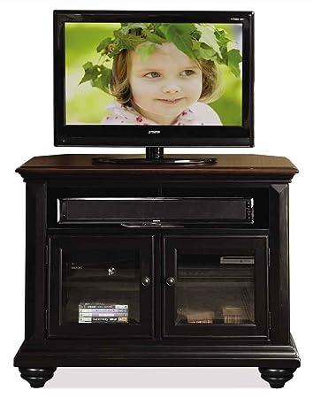 Corner TV Cabinet in Prestige Black Finish