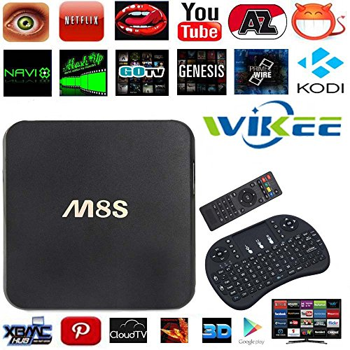 [Free Wireless US Mini Keyboard] WIIKEE M8S Android TV Box Amlogic S812 Quad Core 2G/8G Fully Loaded KODI 2.4G/5G Dual Band WIFI Bluetooth 4.0 4K 3D Full HD Unlocked Streaming Media Player (M8 Quad Core compare prices)