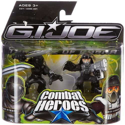 G.I. Joe The Rise of Cobra Combat Heroes 2-Pack Snake Eyes and Neo-Viper