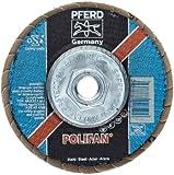 PFERD Polifan SGP STRONG Abrasive Flap Disc, Type 29, Threaded Hole, Phenolic Resin Backing, Zirconia Alumina