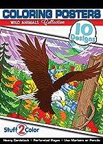 Wild Animals - Premium Coloring Poster Book (10 Designs)