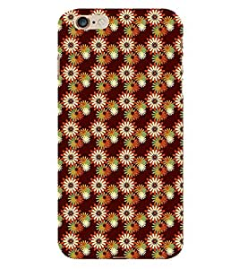 Modern Art Design Flower Pattern 3D Hard Polycarbonate Designer Back Case Cover for Apple iPhone 6S :: Apple iPhone 6S