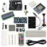 SainSmart Leonardo R3 Starter Kit for Arduino (1602CLD + Prototype Mini Breadboard + HC-SR04 included) With Tutorial Instruction Manual on Basic Arduino Projects