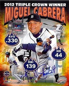 Miguel Cabrera Autographed Detroit Tigers 8x10 Photo #6 - Triple Crown Composite