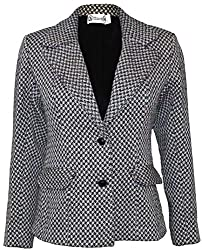 Attuendo Women's Wool and Cotton-blend Bouclé Tweed Jacket (Small)