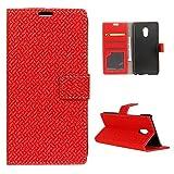 Meizu Pro 6 Hülle, Moonmini® Rot Leather Magnetverschlus