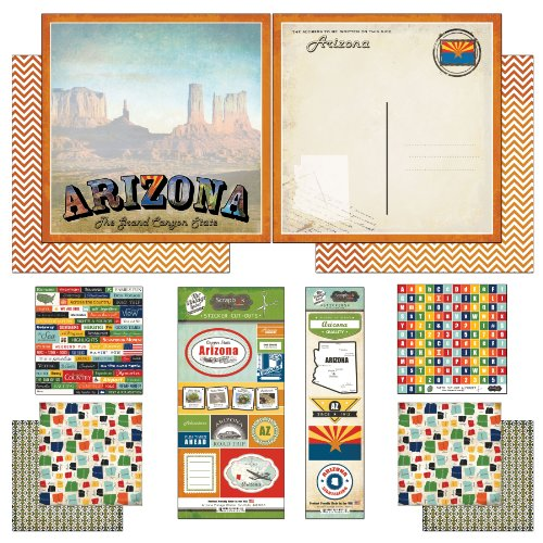 Scrapbook Customs Themed Paper and Stickers Scrapbook Kit, Arizona Vintage - 1