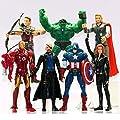7 Pcs The Avengers Hulkcaptain Americablack Widowiron Manthor Figure Us by china