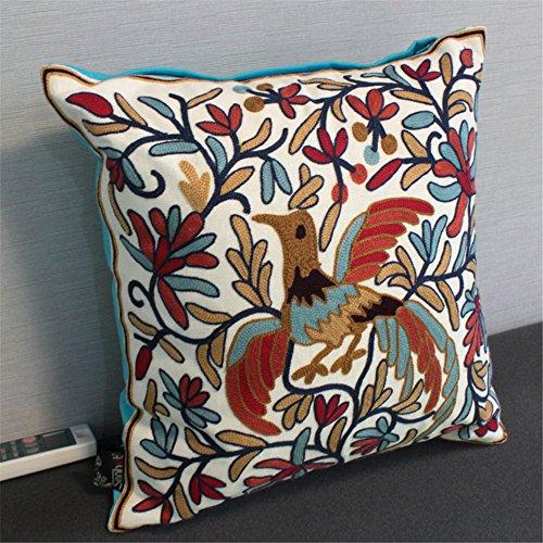Buttare decorativo Federe Fodera per cuscino Home divano BedChina vento ricami artigianali cuscino cuscino 45cm*45cm,45cm*45cm, Lan Phoenix