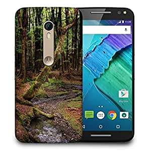 Snoogg Dying Forest Printed Protective Phone Back Case Cover For Motorola X Style