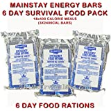 Mainstay Emergency Food Rations 2400 Calorie Bars, Enriched with Vitamins & Minerals (Pack of 3)