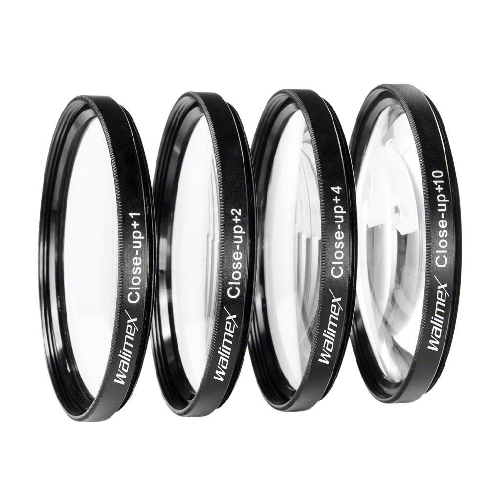 Walimex - Juego de lentes para primeros planos especial para macrofotografía (67 mm, +1/+2/+4/+10 dioptrías)  Electrónica Comentarios y más información