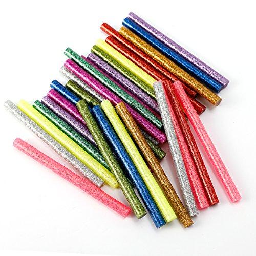 30x-baton-de-colle-thermofusible-7x7x100mm-multicolore-poudre-paillete