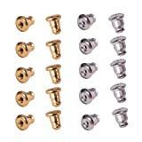 PH PandaHall 60PCS 304 Stainless Steel Bullet Earnuts Earring Safety Backs Bullet Clutch Earring Backs Earrings Findings (Golden, Stainless Steel Color) (Color: 2 Color Earring Backs, Tamaño: Earring backs-6.5x5mm)