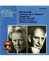 """Concerto n° 5 en mi bémol majeur, op 73, """" L'Empereur """" / Sonate pour piano n° 7 en ré majeur, op 10, n° 3"""