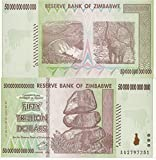 Zimbabwe Currency 50 TRILLION $ UNC BILLS x 100 Notes (2008)