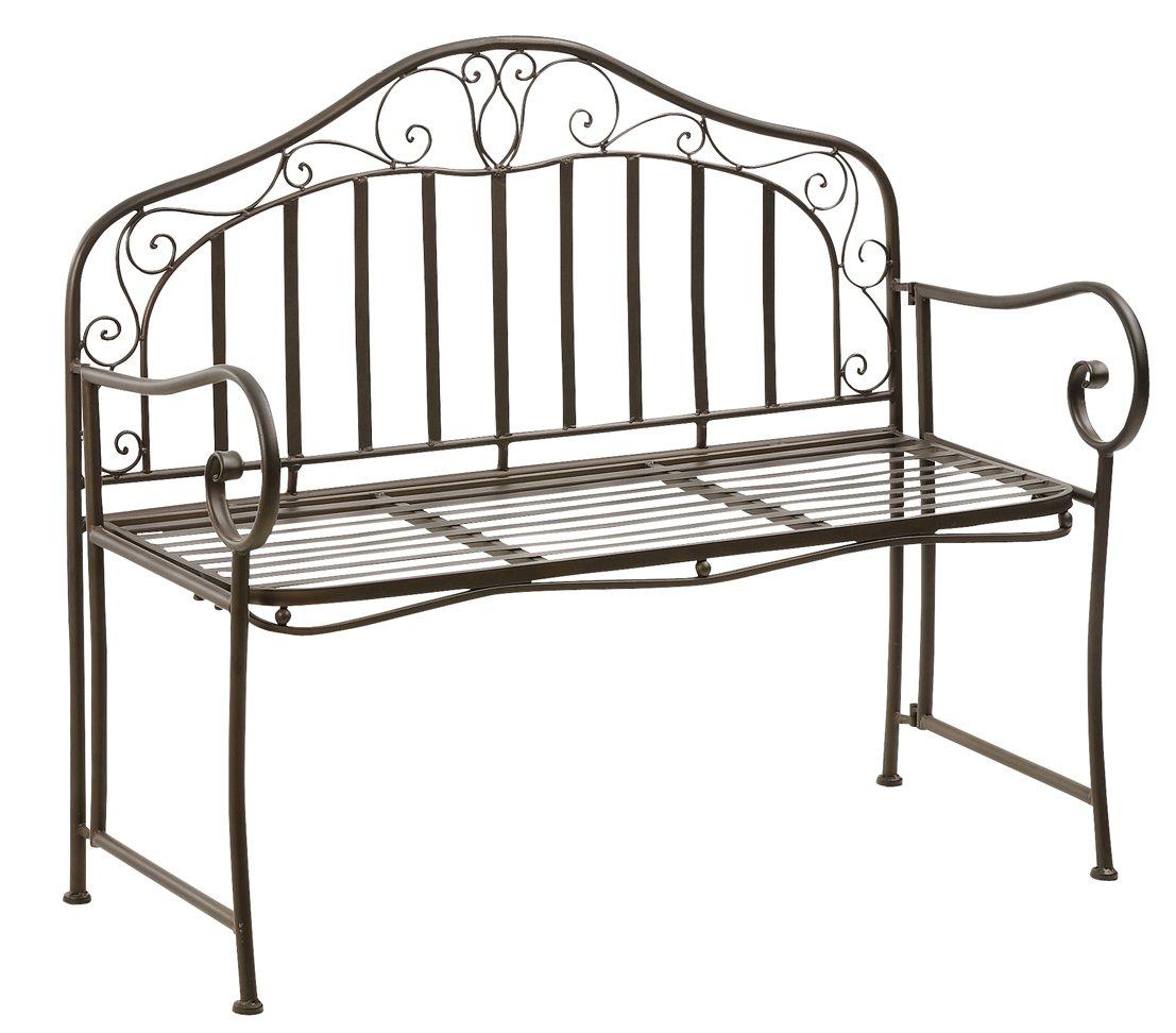 Dehner Metallbank Pisa, 2-Sitzer, bronze, 110 x 95 x 47 cm, Metall günstig