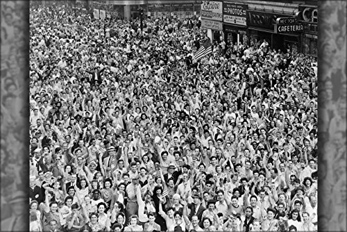 24X36 Poster; V-J Day Times Square New York City End Of World War Two
