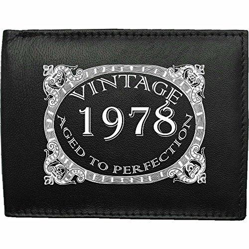 1978-millsime-mri-g--la-perfection-Portefeuille-Pour-Hommes-En-Cuir-Noir-cuir-velours-image-imprime-wallet-cadeau-prsent-humour-plaisanterie-blague-plaisanterie-drle-humoristique