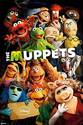 "The Muppets - TV Show / Movie Poster / Print (The Cast - Kermit, Miss Piggy, Gonzo & Friends) (Size: 24"" x 36"")"