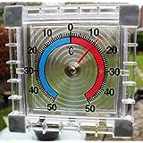 SupaGarden Thermomètre intérieur/extérieur auto-adhésif à fixer sur une fenêtre