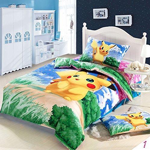 MeMoreCool-Home-Textile-Anime-japons-Pokemon-dibujos-animados-estudiantes-Juego-de-ropa-de-cama-diseo-de-Pikachu-Nias-y-Nios-de-funda-de-edredn-de-cama-infantil-Fashion-Fillet-Colorful-Hojas-Twin-Tama