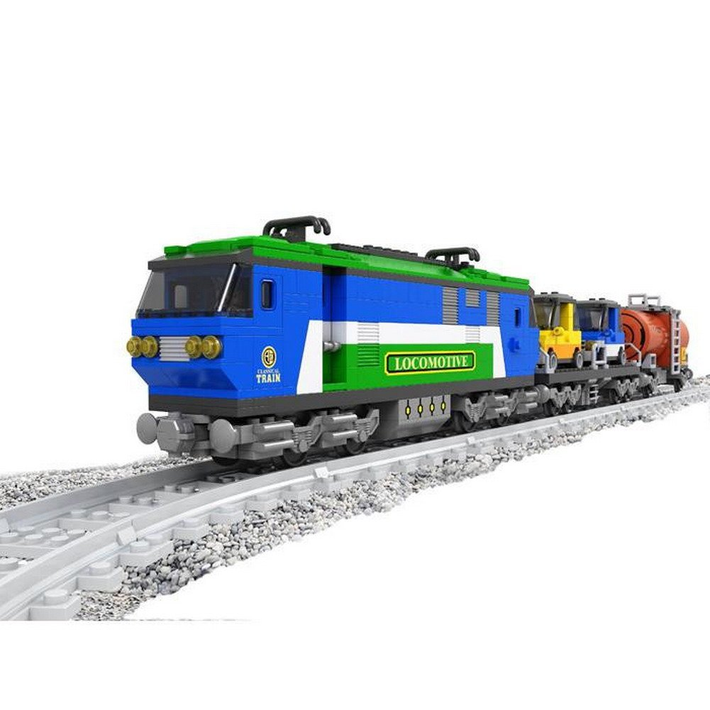 Ausini Building Blocks Express Locomotive Train #25808 573pcs Compatible with Lego Sluban kazi building blocks military tank model building blocks 548 pcs boys