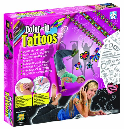 Diamant Gold Boxes Colour-In Tattoos