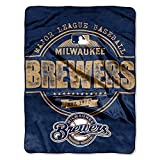 The Northwest Company MLB Milwaukee Brewers Structure Micro Raschel Throw, 46-Inch by 60-Inch