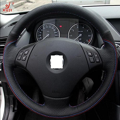 Suede Genuine Leather Steering Wheel Cover for BMW E90 335 I 4D Sedan / 335 XI 4D Sedan /328 I 4D Sedan / 328 XI 4D Sedan / 335 d 4D Sedan / 330 I 330 XI / 325 I 325 XI 4D (Bmw 325 Wheel Cover compare prices)