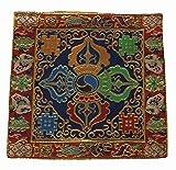 チベット 法具  / 仏像 / おりん / 木魚  五鈷杵 仏具・法具用 座布団・マット・絨毯 風水 G-6 (紺)