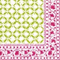 Entertaining with Caspari Al Fresco Paper Luncheon Napkins, Pink/Green, Pack of 20