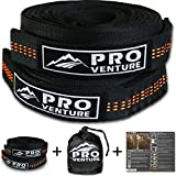 XL Proventure Hammock Tree Straps - Heavy Duty But Lightweight, & the Easiest Set Up With Multiple Adjustable Loops. Non-Stretch Polyester (8 Feet, Orange)