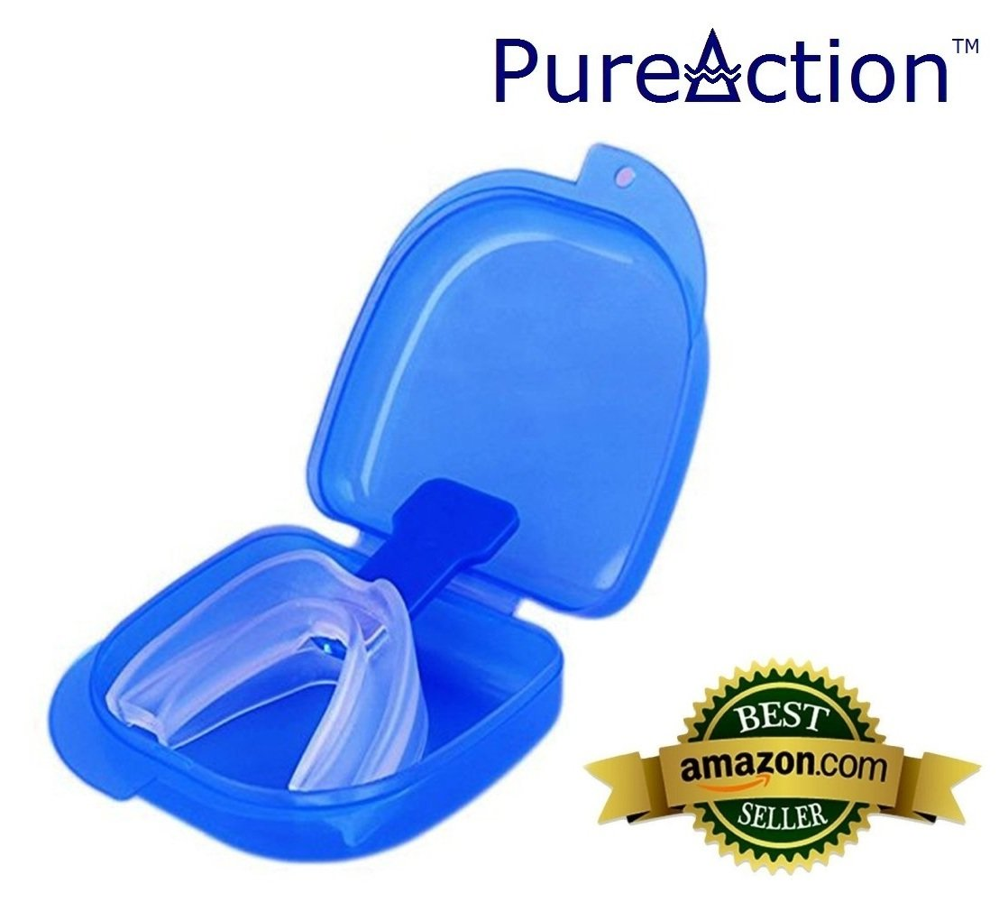 Stop Snoring Mouthpiece - Apnea Aid Sleep Bruxism Anti Snore Pure Grind MouthGuard (1 Pack) - Special Introductory Price