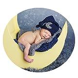 Coberllus Newborn Baby Photo Props Outfits Crochet Moon Hat for Boy Girls Photoshoot (Navy)