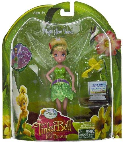 Buy Low Price Jakks Pacific Tink 5″ Mini-Figure: Magic Glow Fairies – Disney Fairies TinkerBell the Lost Treasure Series (B0051D4DLS)