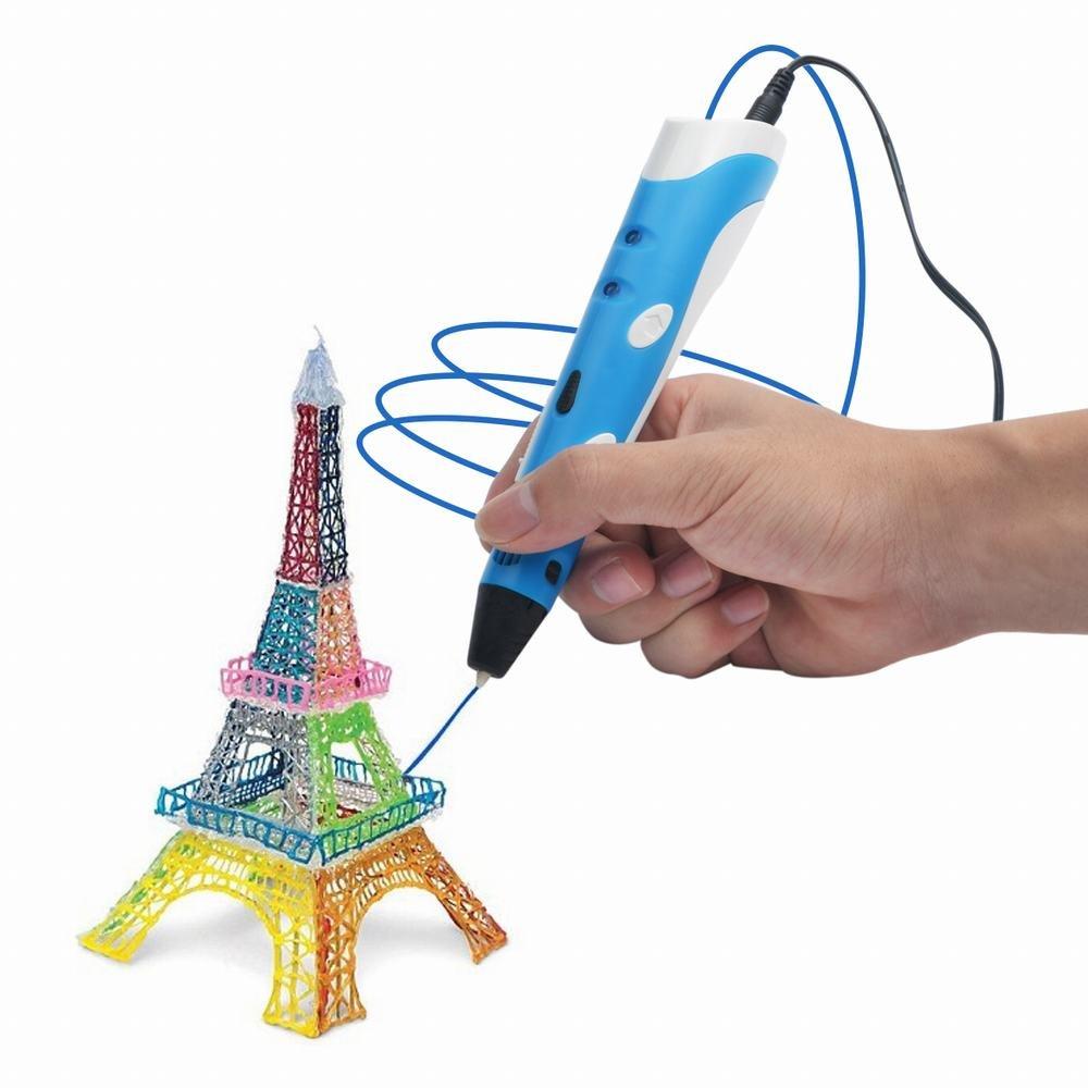 ieGeek Penna Stampante 3D Disegno treddi tridimensionale arte moderna adulti bambini con filamenti colorati in omaggio