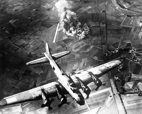 Boeing B-17 Flying Fortress over Germany 11x14 Silver Halide Photo Print